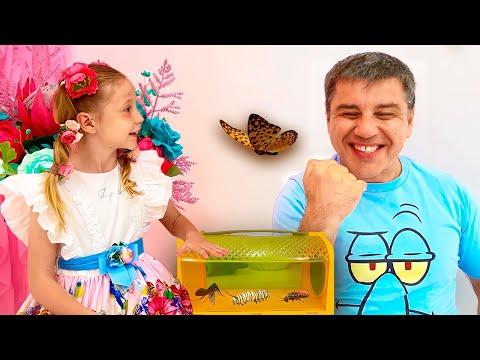 Tìm hiểu về côn trùng cùng Nastya và bố! Video giáo dục