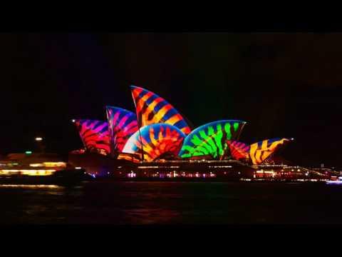 Sydney Opera House Vivid Sydney 2017 Time Lapse 4K