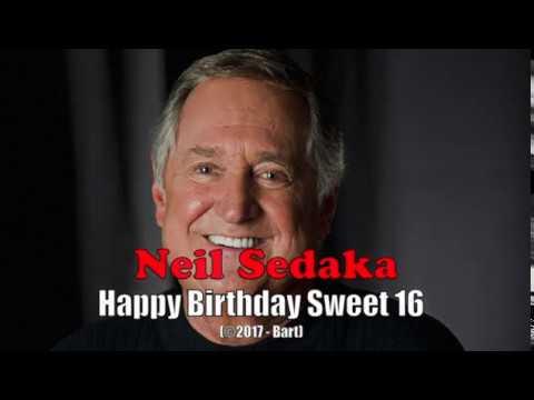 Neil Sedaka - Happy Birthday Sweet 16 (Karaoke)