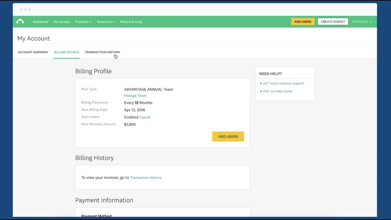 Surveymonkey Viewing Billing Details And Invoices Youtube