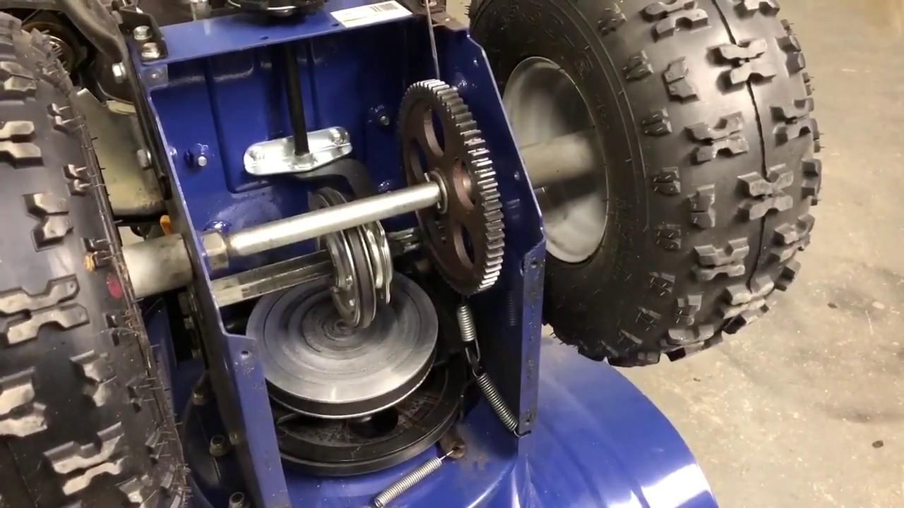 Snow Joe SJ906 snowblower friction wheel adjustment