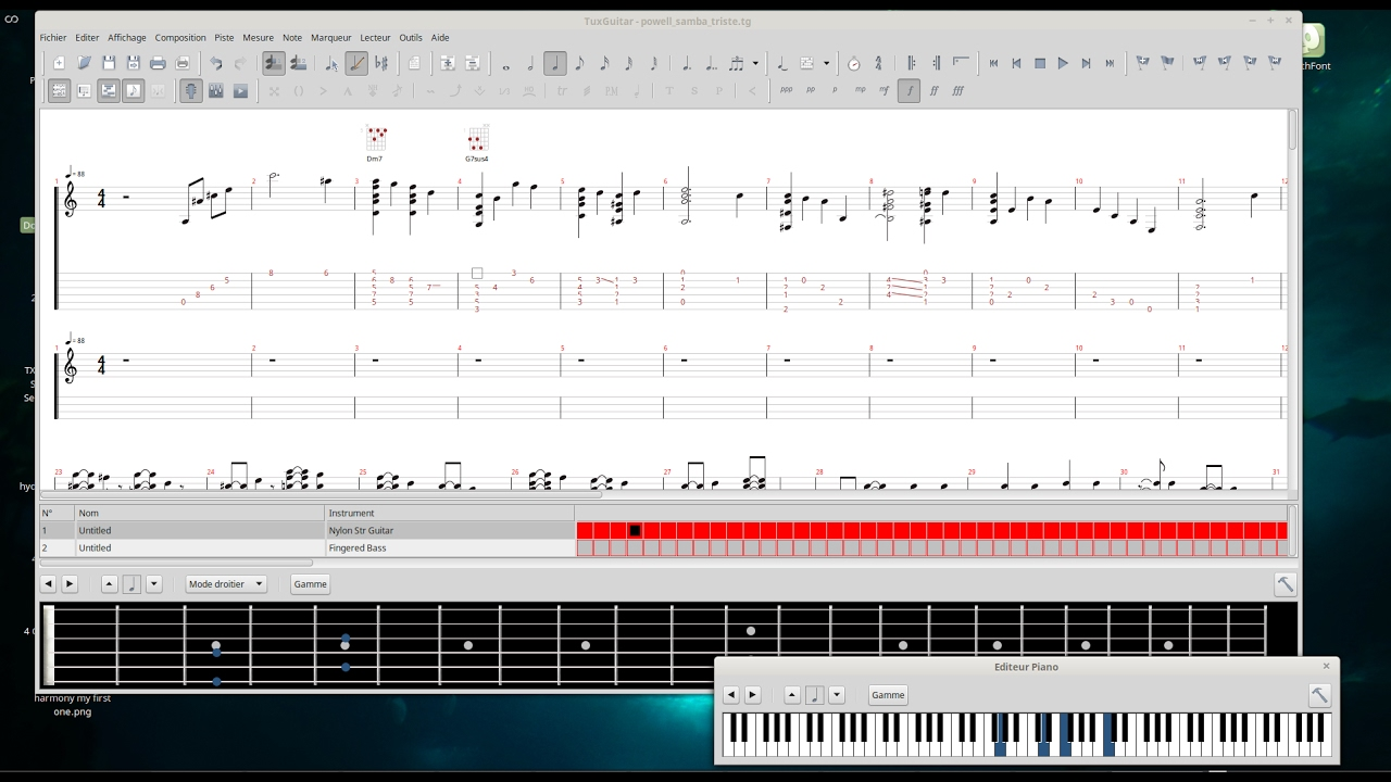 tablature tuxguitar