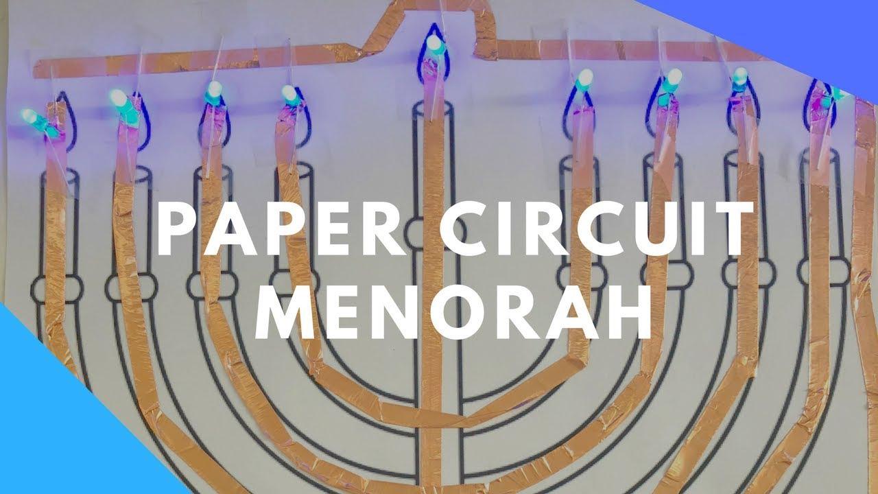 & Paper Circuit Menorah - YouTube