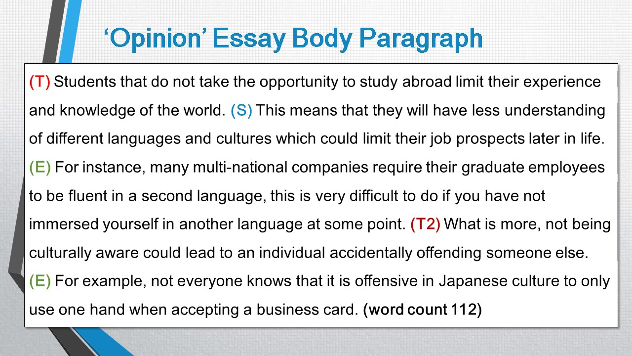 how to write body paragraphs for an ielts writing task 2 essay