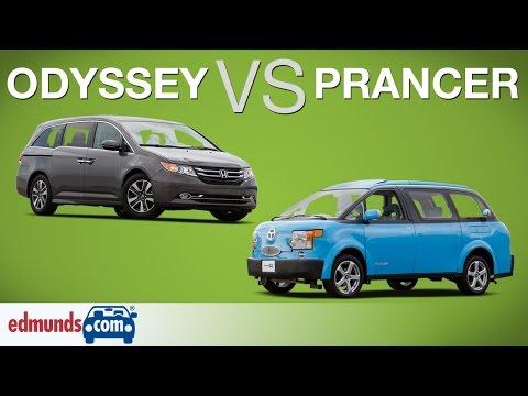 Honda Odyssey vs Tartan Prancer | Edmunds.com Minivan Comparison Test