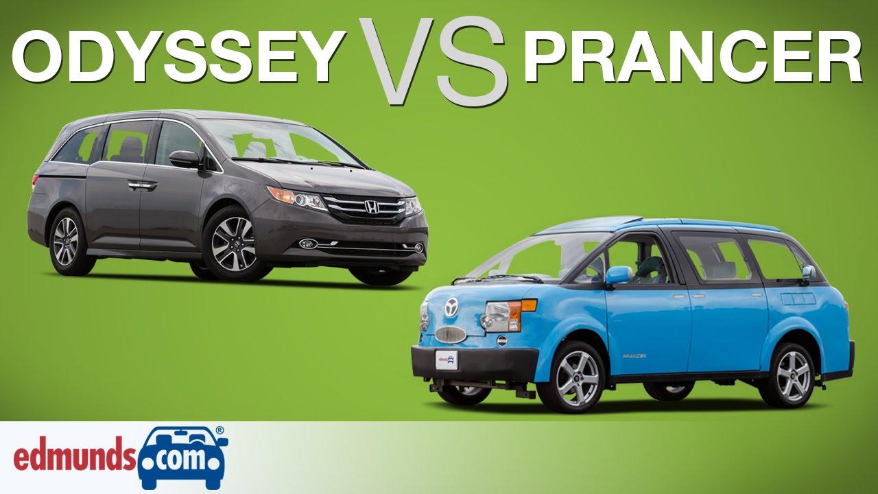 Honda Odyssey Vs Tartan Prancer Edmunds Minivan Comparison Test You
