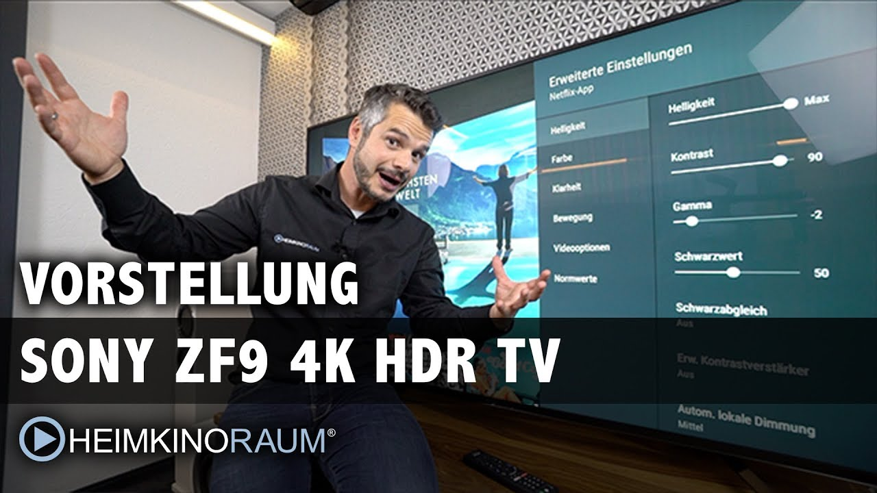 sony zf9 4k hdr test vorstellung 65 zoll android tv youtube. Black Bedroom Furniture Sets. Home Design Ideas