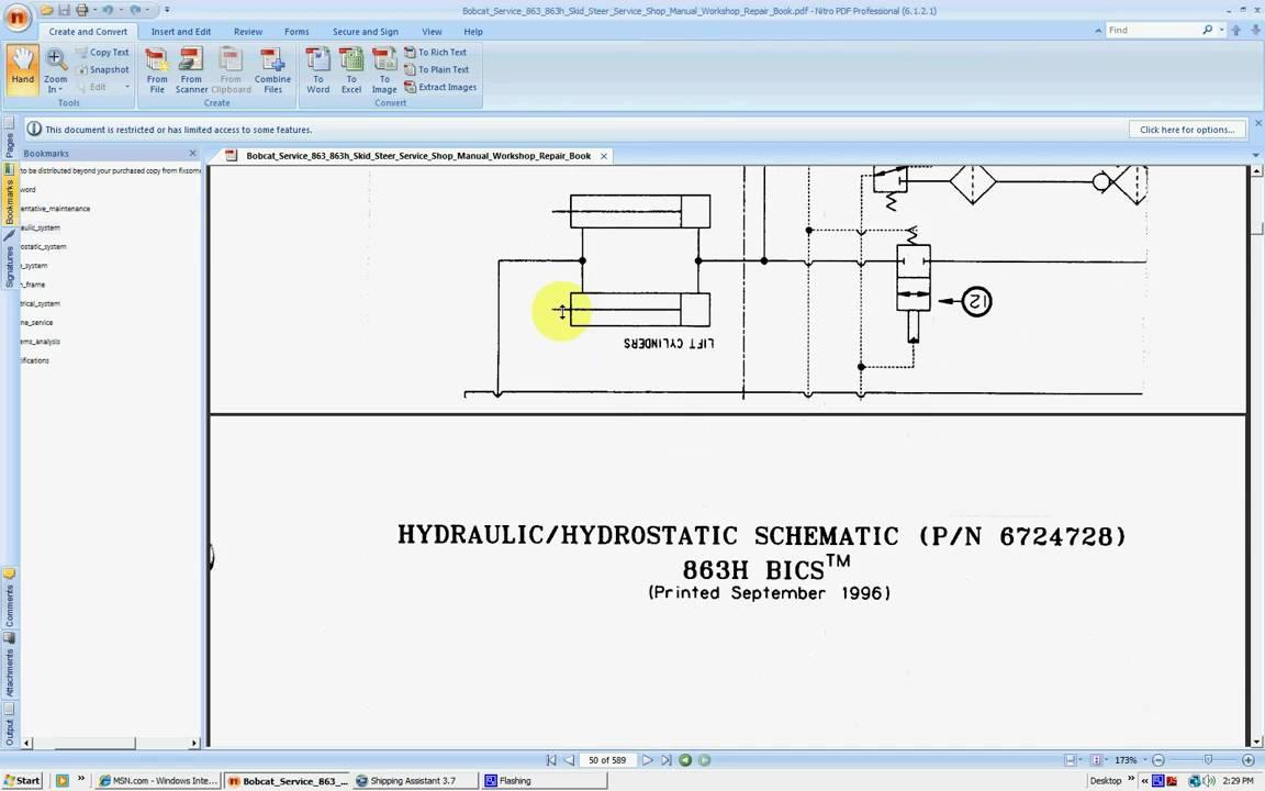 bobcat 863 863h service repair manuals [ 1152 x 720 Pixel ]
