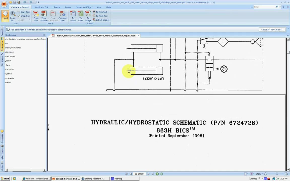 hight resolution of bobcat 863 863h service repair manuals