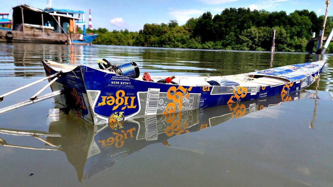 Mô hình tàu dát nhôm phong cách Thailand | Thai Longtails Boat Motor brushless
