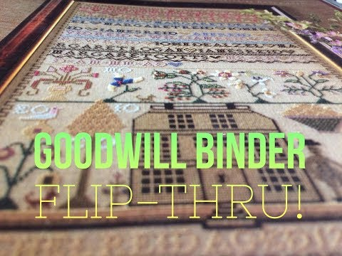 Flosstube #60: Goodwill Binder Flip-Thru (FINALLY!)