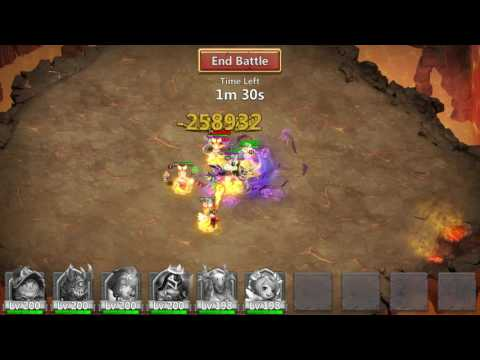 Castle Clash - Archdemon - Summons Monsters / Area Damage - 761 Million! NO DEMOGORGON!