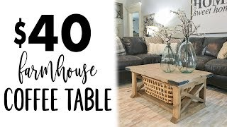 DIY 8 Board Farmhouse Coffee Table