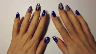 Зимний дизайн ногтей! Гель-лаки Aliexpress и стемпинг!