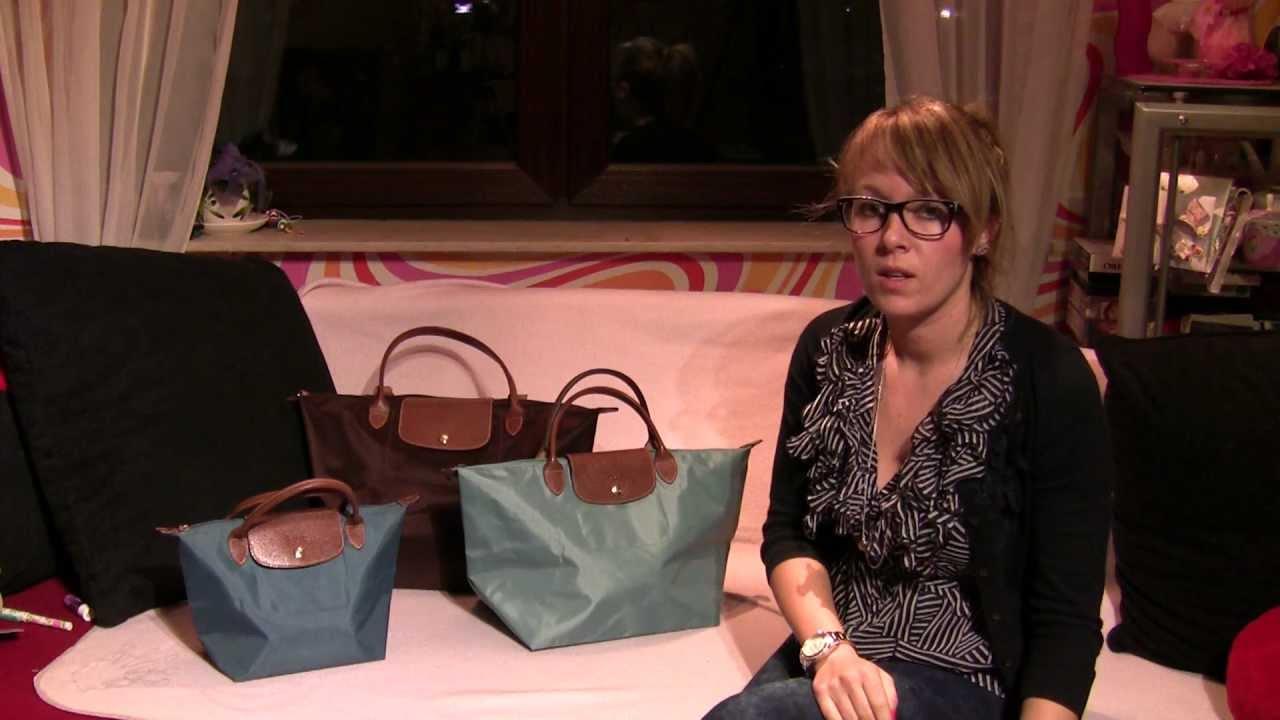 Gegenüberstellung Longchamp Le Pliage S, M, Shopping german deutsch