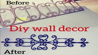 Diy Faux Wrought Iron Wall Decor/ Inexpensive Dollar Tree Wall Decor/glam $1.50 Wall Art