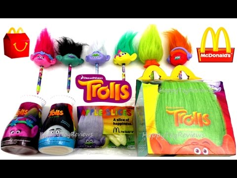 2016 Mcdonald S Dreamworks Trolls Movie Happy Meal Toys Food