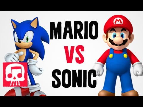 MARIO vs SONIC Rap Battle by JT Music and Brysi
