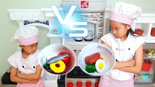 fantastic family became chefs and have a cooking competition with kitchen toys | Nastya,Diana,Ryan