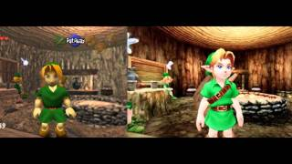 The Legend Of Zelda Ocarina Of Time N64 3DS Comparison Pictures
