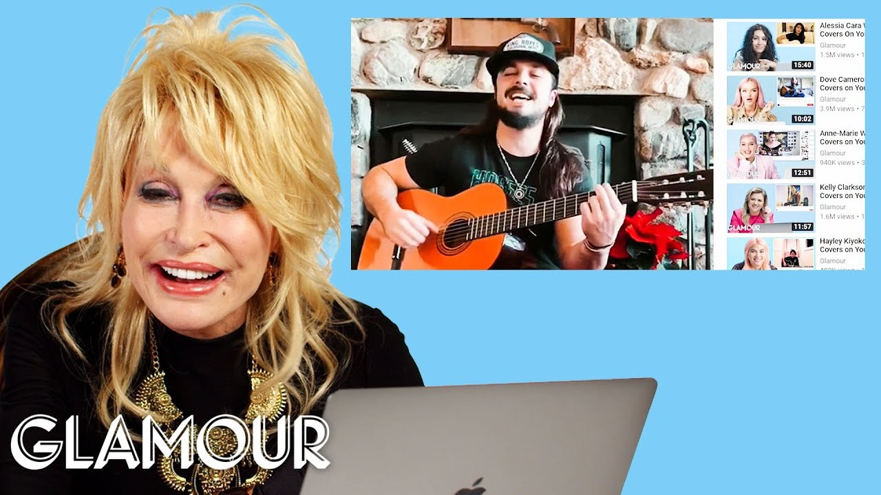 Dolly Parton Watches Fan Covers On Youtube Glamour Youtube