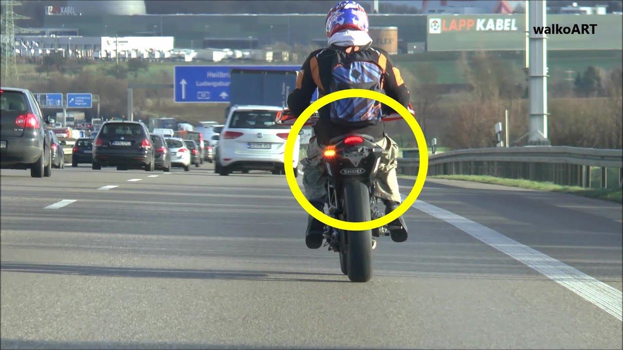 Mutig Oder Dumm ? Brave Or Stupid ? Motorrad Ohne Kennzeichen ...