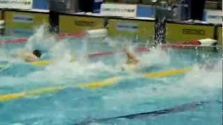 2012水泳日本選手権 男子50m自由形予選第1組