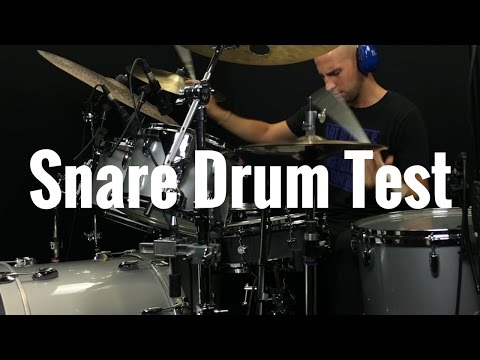 Louie Palmer tests Cambridge Drum Company 14x4 Beech Snare Drum