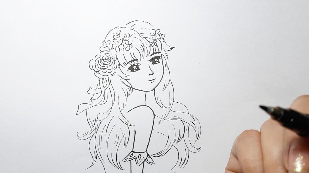 Cách vẽ cô gái Tóc Dài ll Ong Mật Mỹ Thuật #104