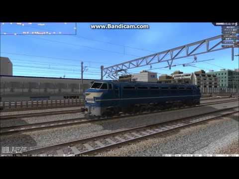 鉄道模型シミュレーター 寝台客車を電車庫で連結→本線へ 外回り編