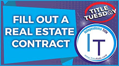 How to Fill Out a Real Estate Contract For Sale and Purchase [E-84]