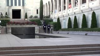 Australian War Memorial Catafalque party mounts a vigil at the Tomb of the Unknown Soldier