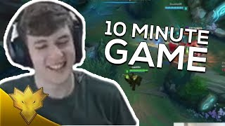 TSM Svenskeren & Doublelift - 10 MINUTE CHALLENGER GAME - League of Legends Stream Highlights