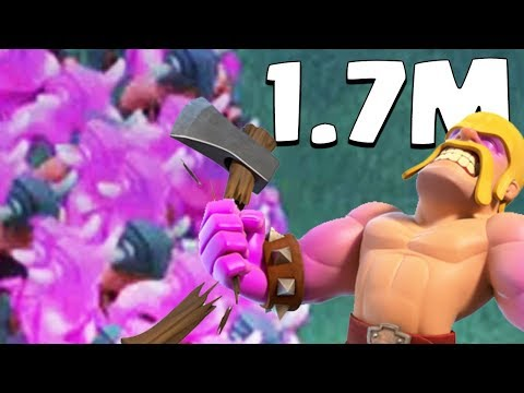 1.7 MILLION RAGED BARBARIANS | Clash of Clans | Funny Moments, Glitches, and Fails