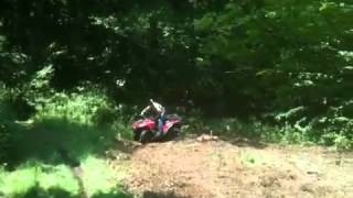Creating Whitetail food plots with the ATV and a drag harrow.