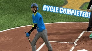 Mr. Banana Hits for the Cycle! - MLB The Show 17 Diamond Dynasty Gameplay