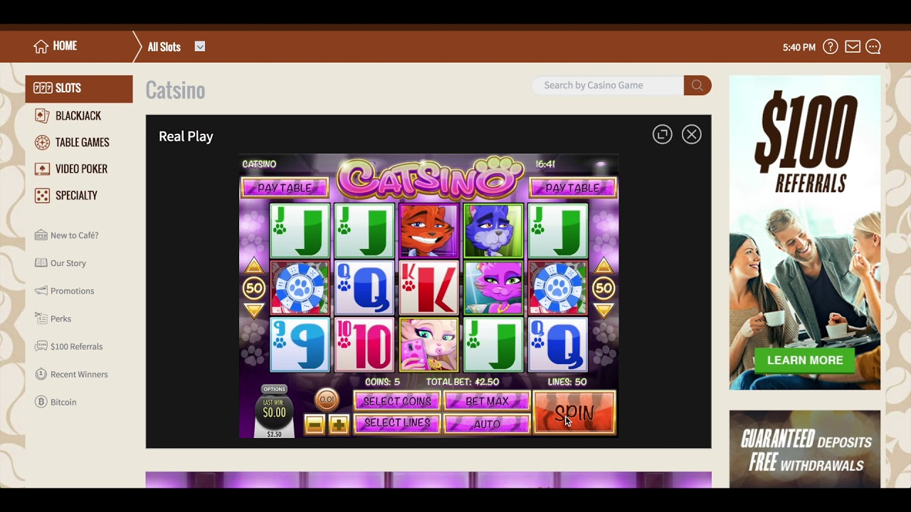 Cafe Casino Free Spins 2021