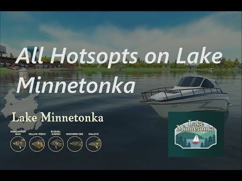 Rapala Fishing Pro Series : All Hotspots On Lake Minnetonka