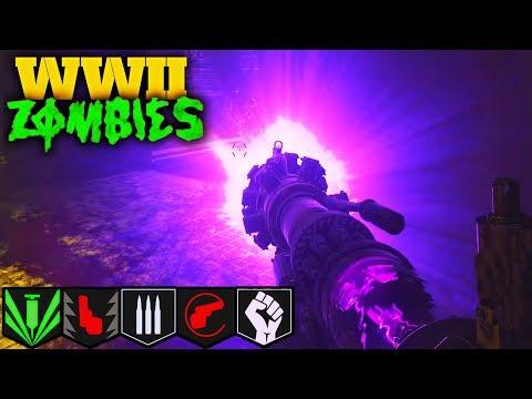 WW2 ZOMBIES: SOLO EASTER EGG & BOSS FIGHTw/ PURPLE TESLA GUN! (COD: WW2 Zombies)