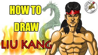How to draw Liu Kang