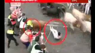 Spain: one killed as bull goers runners in Pamplona