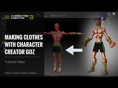 Character Creator 3 Tutorial - Making Clothes with CC3 GoZ