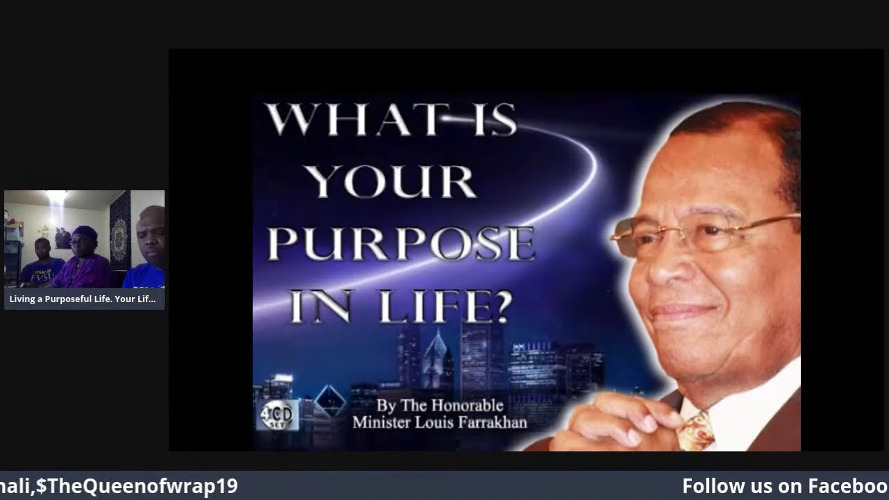 Living life on Purpose. You have a purpose for your life