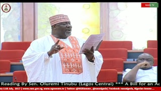 Nigerian Senate Plenary, 11th  July, 2017