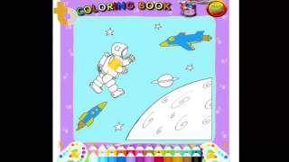 Tô màu du hành vũ trụ | tàu vũ trụ | PLAYING MAN ON THE MOON COLORING PAGES