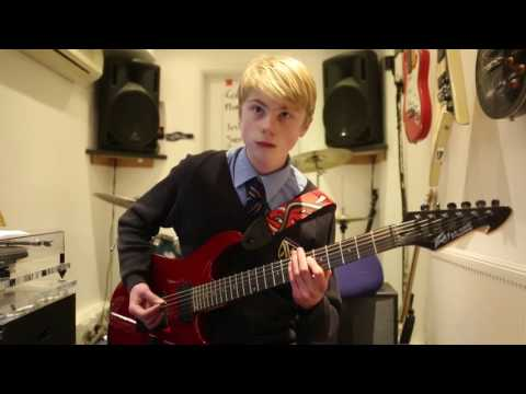 Thunderstruck AC DC Guitar Cover By Alex Harris age 13