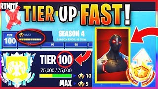 "How To GET FREE TIER 100 ""MAX BATTLE PASS"" IN SEASON 4! - FASTEST WAY To LEVEL / RANK UP In Fortnite"