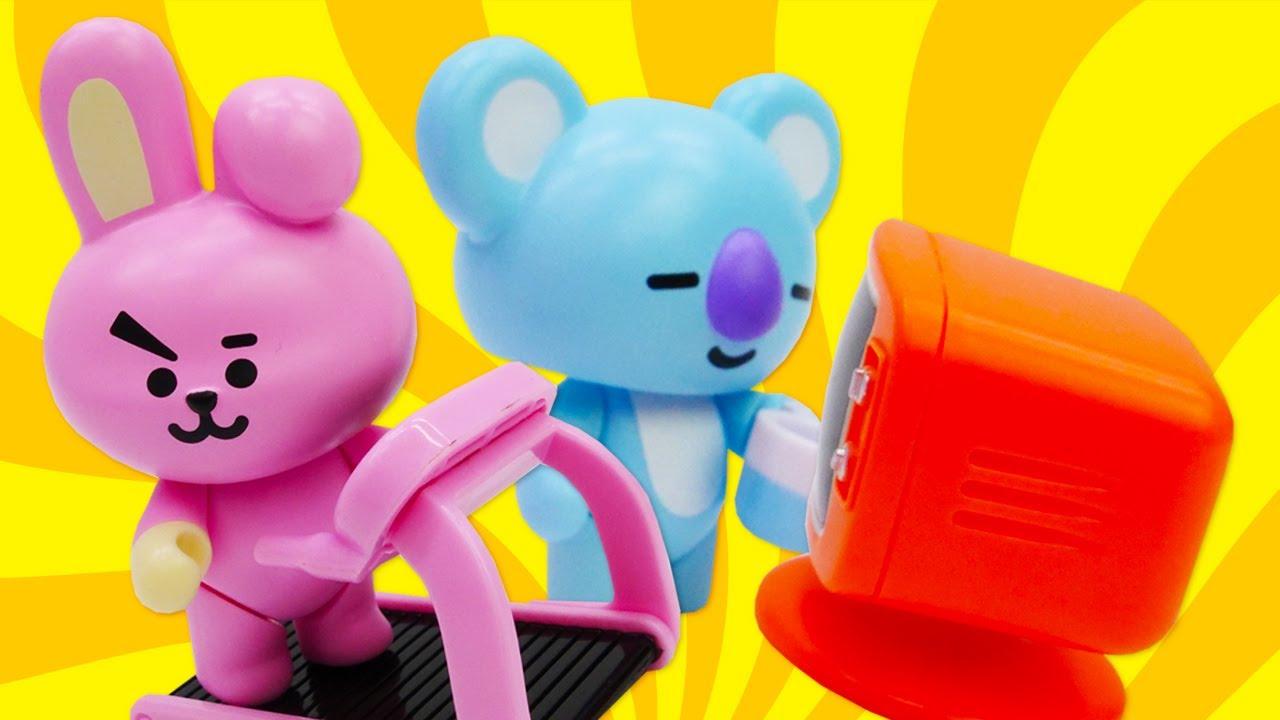 BT21 Universe toys - BT21 Koya and Cooky - BT21 cartoon new episode.