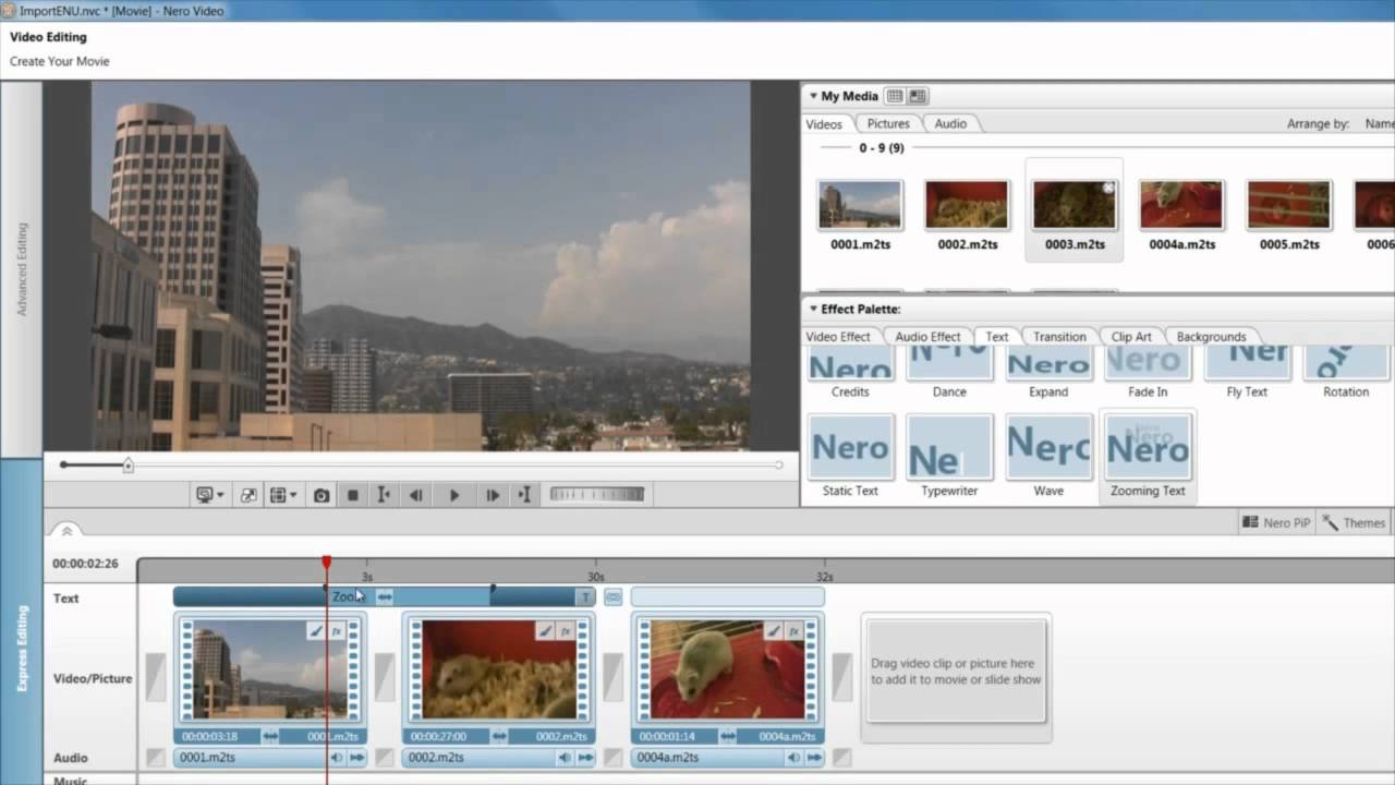 Express editing storyboards simple edits text effects in nero express editing storyboards simple edits text effects in nero video youtube ccuart Gallery