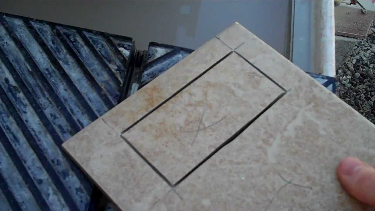 How To Cut A Hole In The Middle Of A Tile Youtube